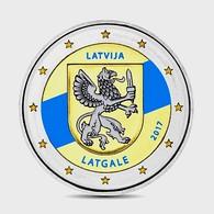 LETTONIE 2017 - 2 EUROS - LATGALE - COULEUR - FARBE + CAPSULE MODELE N° 1 - Lettonie