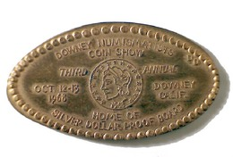 03517 GETTONE JETON TOKEN ADVERTISING DOWNEY NUMISMATIST COIN - Elongated Coins