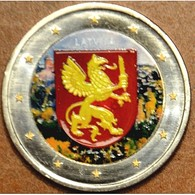 LETTONIE 2017 - 2 EUROS - LATGALE - COULEUR - FARBE + CAPSULE MODELE N° 2 - Lettonie