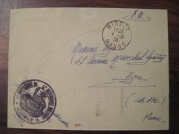 Lettre Enveloppe MIDELT MAROC 1938 Poste Aux Armées FM Franchise Militaire Cover Colonie DIJON - Marokko (1891-1956)