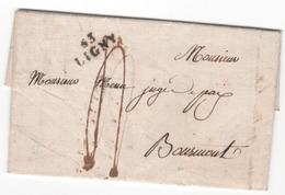 MP  63  LIGNY Du 7.5.1821  ( Indice 6 = 25 € ) - 1801-1848: Précurseurs XIX