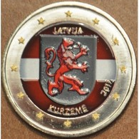 LETTONIE 2017 - 2 EUROS - KURZEME - COULEUR - FARBE + CAPSULE MODELE N° 2 - Lettonie