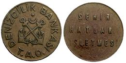 00020 GETTONE JETON TOKEN TURKEY TRASPORTO TRANSIT DENIZCILIK BANKASI T.A.O. - Tokens & Medals