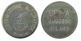 04853 GETTONE JETON TOKEN VENDING DISPENSER MACHINE COFEE GESA MILANO - Unclassified
