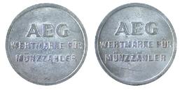 03795 GETTONE JETON TOKEN WASHING MACHINE AEG  WERTMARKE FUR MUNZZAHLER - Germany