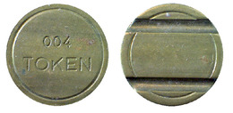 04869 GETTONE JETON TOKEN ARCADE PLAY MACHINE BRASS - Unclassified