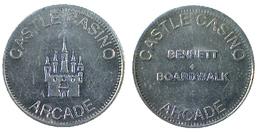 00821 GETTONE JETON TOKEN ARCADE CASINO CASTLE CASINO BENNET + BOARDWALK - Casino