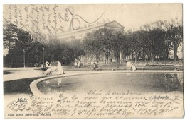 CPA Metz Esplanade Nels 1903 - Metz