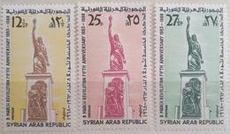 X3 - Syria 1968 SG 974-976 Cplte Set 3v. MNH - 5th Anniv Of Baathist Revolution Of 8 March 1963 - Syria