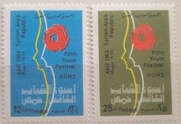 X3 - Syria 1969 SG 1034-1035 Cplte Set 2v. MNH - 5th Youth Festival, Homs - Syria