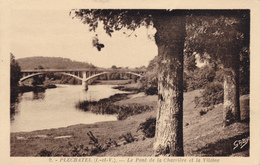 Carte Postale Ancienne,cpa,PLECHATEL,IL LE ET VILAINE,35,PONT,CHARRIERE ,PRES REDON,ARBRE CENTENAIRE - Redon