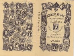 18803# ARTHUR MAURY TIMBRES POSTE DE COLLECTIONS PARIS CATALOGUE DE VENTE FORMAT POCHE TRES BEL ETAT 32 PAGES - Other