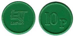 04926 GETTONE JETON TOKEN TRASPORTO TRANSIT BUS LOTHIAN REGION TRANSPORT 10P - United Kingdom