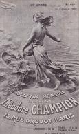 18804# THEODORE CHAMPION TIMBRE POSTE DE COLLECTION PARIS 6ème SUPPLEMENT CATALOGUE YVERT TELLIER 1938 38 PAGES - Other