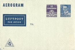 Danemark Danmark Entier Postal, Ganzsachen, Postal Stationery Aérogramme Luftpostfaltbriefe - Postwaardestukken