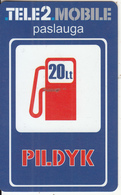 LITHUANIA - Tele 2 Prepaid Card 20Lt, Used - Lithuania