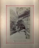 ISERE 38 Photo Albuminée Fin XIXème Siècle Format 10 X 15 Cm Carton 19 X 24 Cm SASSENAGE - Rte Des Grands Goulets - Fotografía