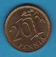 FINLAND 20 PENNIA 1974 KM# 47 SUOMEN TASAVALTA - Finland