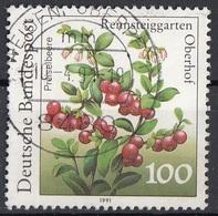 Germania 1991 Sc. 1633 Frutta Mirtillo Cranberry Bundespost Viaggiato Used Germany - Frutta