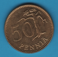 FINLAND 50 PENNIA 1974 KM# 48 SUOMEN TASAVALTA - Finland