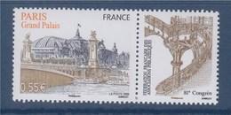 81è Congrès De La Fédération FAP Le Grand Palais N°4215 Neuf Gommé +vignette Le Pont Alexandre III à Paris - Neufs