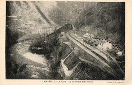 46. CPA. LAMATIVIE. La Gare, La Centrale électrique. 1932. - France