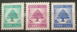 Lebanon 1967 Mi. # 69-71 Postage Due Complete Set 3v. MNH - Cedar Tree - Lebanon