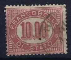Italy: Sa Nr 8  Mi Nr 8 Obl./Gestempelt/used  Small Tear At Top - 1861-78 Vittorio Emanuele II