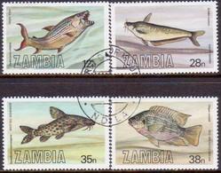 ZAMBIA 1983 SG #392-95 Compl.set Used Fishes - Zambia (1965-...)