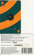 LITHUANIA - Tele2 Prepaid Card 10 Lt(large Barcode), Used - Lithuania