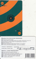 LITHUANIA - Tele2 Prepaid Card 10 Lt(small Barcode), Used - Lithuania