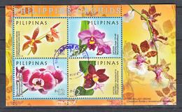 Filippine Philippines Philippinen Pilipinas 2016 Philippine Orchids Souvenir Sheet SS - USED - Philippines