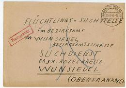 Hagenow Mecklenburg Brief An Den Suchdienst Des Bayrischen Roten Kreuzes - Sowjetische Zone (SBZ)