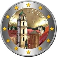 LITUANIE 2017 - 2 EUROS - VILNIUS  - COULEUR - FARBE + CAPSULE MODELE N° 2 - Lituania