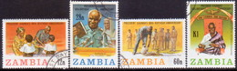 ZAMBIA 1984 SG #404-07 Compl.set Used 60th Birthday Of President Kaunda - Zambia (1965-...)