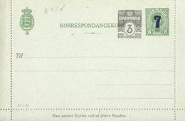 Danemark Danmark Entier Postal, Ganzsachen, Postal Stationery Carte Lettre Kartenbriefe - Postwaardestukken