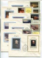 ART FDC COVERS X7 USSR 1974 RUSSIAN PAINTING I.K.AYVAZOVSKY Mi# 4219-25 Bl 93 - 1923-1991 UdSSR