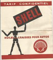 Tarifs Confidenciel   Shell Huiles Et Graisses Pour Autos   1937 4 Pages - Other