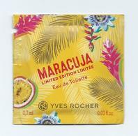 Pochette Parfumée MARACUJA YVES ROCHER Eau De Toilette échantillon ( édition Limitée ) - Perfume Cards