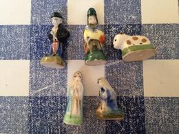 5/32 Feves Santons Tradition 1991 Prime Marie Villageois Boeuf - Santons