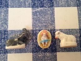 3/10 Feves Creche Brillante 2000 Arguydal Mouton Ane Jesus - Santons