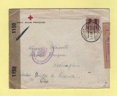 Croix Rouge Francaise En Espagne - Pamplona Destination Etats Unis - Double Censure - 1943 - 1931-Aujourd'hui: II. République - ....Juan Carlos I