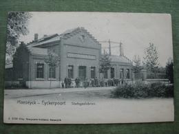 MAESEYCK - EYCKERPOORT 1904 - STADSGASFABRIEK ( Scan Recto/verso ) - Maaseik