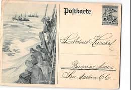 AG1271  POSTKARTE  - DEUTSCHESREICH WINTERCHILFSWECK TO BUENOS AIRES - Werner Von Axster Heudtlass - Weltkrieg 1939-45