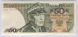 POLAND 142c 1988 50  Zlotych UNC - Polen