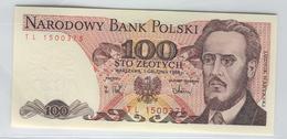 POLAND 143e 1986 100  Zlotych UNC - Poland