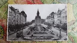 TIMISOARA 1940s Bulevardul Regele FERDINAND, Cathedral, Tramway (W Tram ) - Strassenbahnen