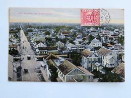 C.P.A. SURINAM : Bird's Eye View, City Of Georgetown, Stamp In 1910 - Surinam