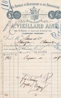CLERMONT FERRAND A VIEILLARD AINE AUX ARMES D AUVERGNE DE BOULOGNE A MR SORIN A SAUJON ANNEE 1910 - France