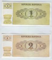 SLOVENIA 1-2 1990 1-2 Tolars UNC - Slovenia